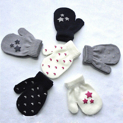 Baby Unisex Knitting Warm Soft Gloves Kids Boys Girls Candy Colors Mittens Cute