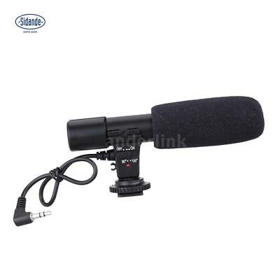 Sidande 3.5mm Recording Microphone Mic for DSLR Camera Video Camcorder PC Laptop