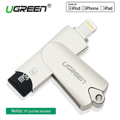 Ugreen Apple Lightning to USB Flash Drive Adapter Micro SD Card Reader fr iPhone