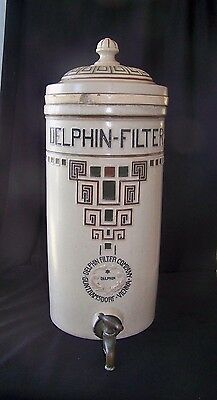 "17"" Large Old Austrian Delfhin Ceramic Water Filter"