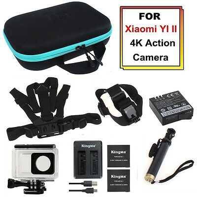 Accessory Bundle Head+Chest Strap+Monopod+Housing+Charger Kit For Xiaomi Yi 4K