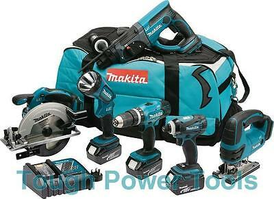 Makita 18 Volt 6pc Cordless Kit DLX 6017M 3 x 4.0Ah Li-Ion Batts OFFER