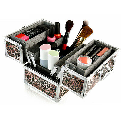 Professional Beauty Make up Box Nail Cosmetic Vanity Travel Case Large Storage