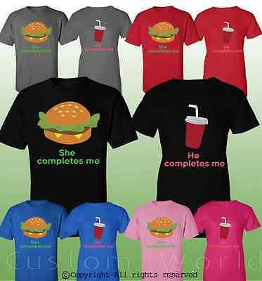Couple Shirt Burger and Soda His and Hers Matching T-Shirts Matching Couple Love