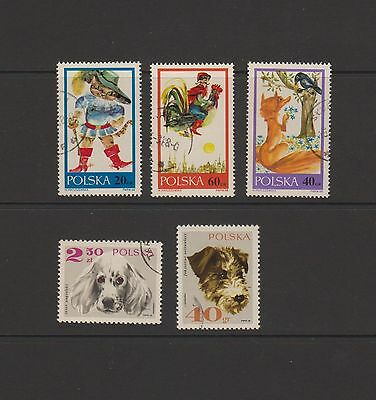 Poland - 5 beautiful pictorial stamps   ( Lot 25 )
