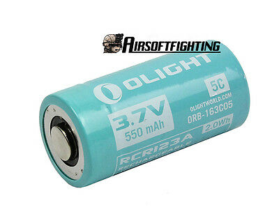 Olight IMR16340 550mAh 3.7V Rechargeable Lithium Battery with Protection Board