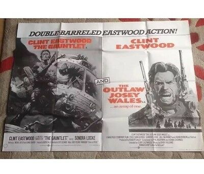 The Outlaw Josey Wales, Orig 1976 British Quad Movie Film Poster, Clint Eastwood
