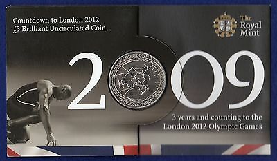Royal Mint 2009 £5 Coin, BU UNC, Countdown to London 2012 (Ref. t0022)