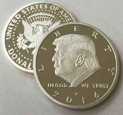 Donald Trump Presidential 2016 Silver EAGLE Novelty Coin 30mm US Collectable