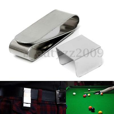 New Magnetic Billiards Snooker Pool table Cue metal Chalk Holder w Belt Clip