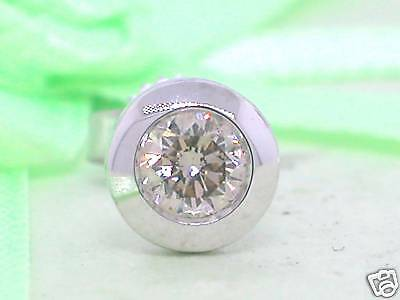 Single Brillant Ohrstecker Diamant Brillant 0,20carat 585 Weißgold 14Kt Gold