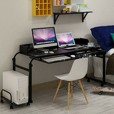 Overbed TrolleyTable Laptop IPad Study Hospital Hall Desk Food Tray Adjustable