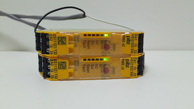 [2Units] Pilz Pnoz S3 24Vdc 750103 Safety Relay Power On Tested
