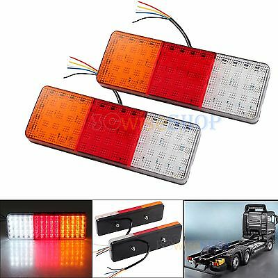 2X LED Rear Tail Stop Indicator Light Lamp Truck Lorry VAN Car Trailer Boat 12V