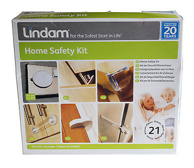 21-Piece Home Safety Kit by Lindam Locks and Guards Gate Stair Baby Shut Sure