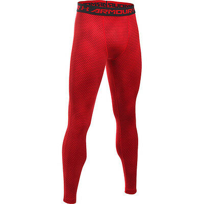 Under Armour Heatgear Compression Printed Leggings Herren Hose red 1258897-601