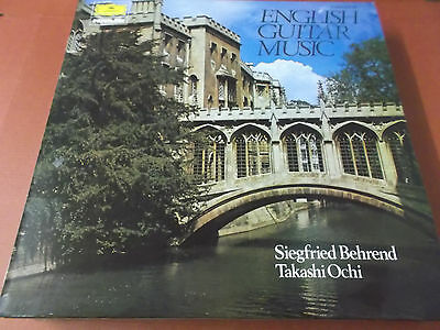 English Guitar Music: Vinyl Lp Made In England: Siegfried Behrend: Takashi Ochi