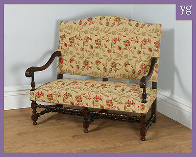 Antique French Walnut Jim Dickens Upholstered Couch Sofa Settee Armchair c.1870