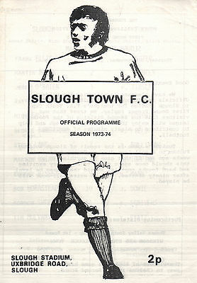 1973/74 Slough Town v Fulham, FA Youth Cup - PERFECT CONDITION