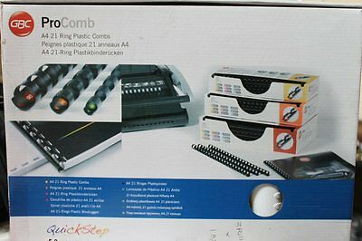 GBC Procomb 16mm A4 Ring Plastic Combs White 4400328 Pack of 100 120 Sheet G1W