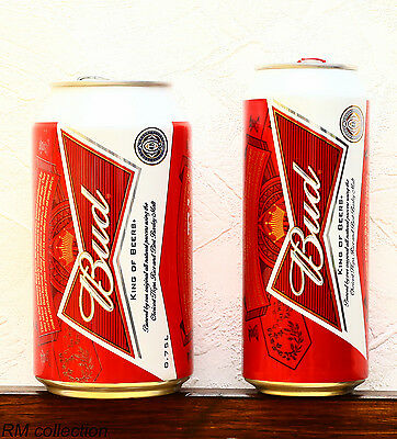 lot of 2 BUD 2015 beer Russian release 0,75L 0,5L cans empty