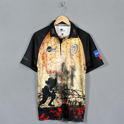 Samurai Battle Of The Somme Commemoration Poppy Rugby Shirt 2016