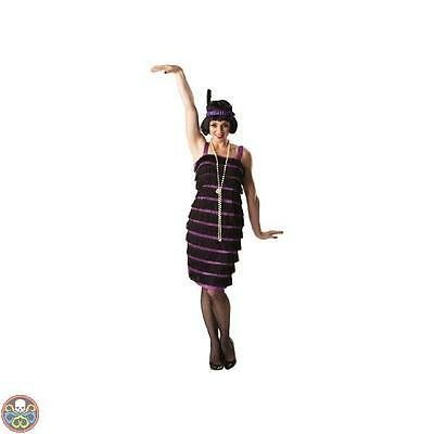 Rubies Womens 1920S Purple Flapper Dress Fancy Costume Donna Outfit Nuovo