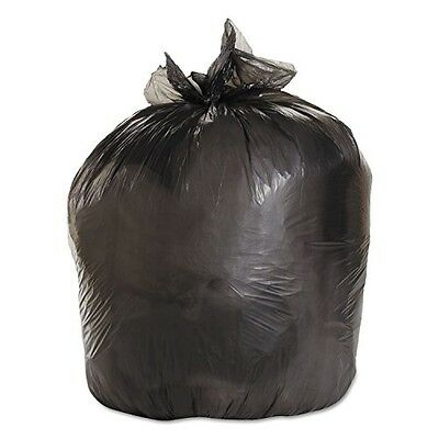 Medium-Grade Can Liners, 33 X 39, 33 Gallon, .50 Mil, Black, 25/roll, 8/carton