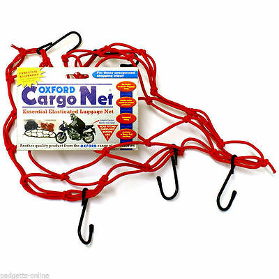 Oxford-OF128 Essential Elasticated Luggage Cargo Net - Red