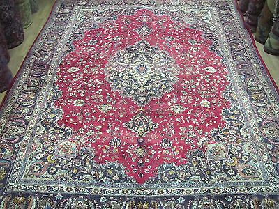 A MARVELLOUS OLD HANDMADE MASHED SIGNATURE ORIENTAL XL CARPET (405 x 285 cm)