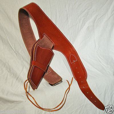 Right Draw Holster - Rig - Single - Leather for Fancy Dress, Cosplay, Theatre
