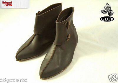 11C Norman Cavalry Short Boots - Reenactment, Larp, Fancy Dress,Cosplay- Leather