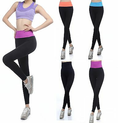 Womens Fitness Yoga Running Leggings Gym Exercise Sports Training Pants Trousers