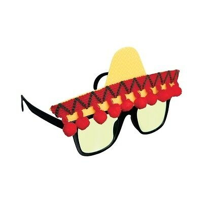 Sombrero Mexican Spanish Fun Shades Fiesta Tinted Sun Glasses 250474