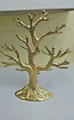 Cast Aluminum Jewelry Necklace Tree Stand Earring Display Organizer Holder
