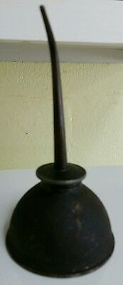 Antique Vintage Small Oil Spout Tin Service Station Can