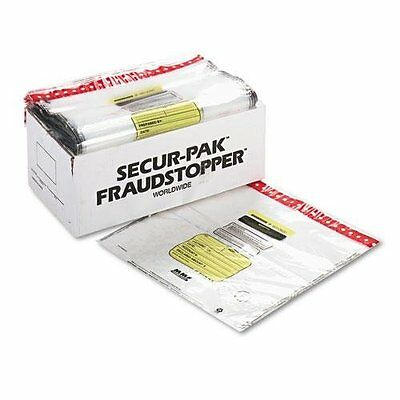 MMF Industries Tamper-Evident Cash Bags 20 x 20 Inches Clear
