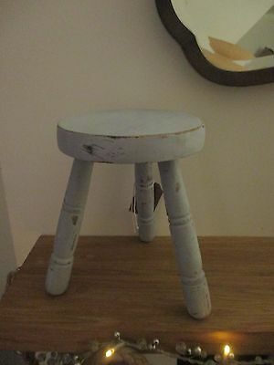 Tiny Vintage Milking Stool Vintage French Distressed Shabby Chic Shop Display