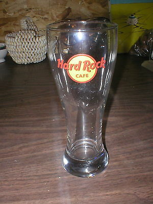 Hard Rock Cafe Pilsner Glass Honolulu Yellow Circle Red HRC Black Lettering