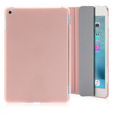 Slim Magnetic Leather Smart Cover Stand Case for Apple iPad Mini 4 Rose Gold