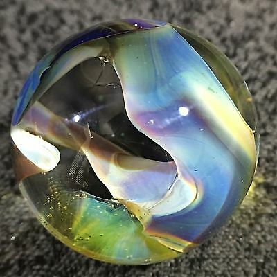 """Mad Man Marbles 1 1/4"""" Multi Color Bench Scrap Swirl  Marble"""