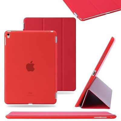Red Slim PU Leather Smart Magnetic Stand Cover Case for Apple iPad Pro 9.7""