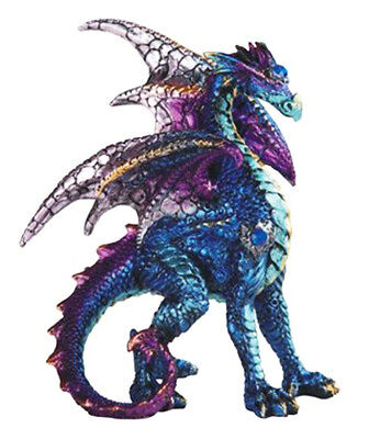 BLUE SENTRY        Standing Blue Dragon  Statue   H5""