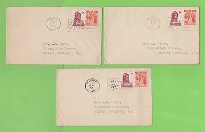 Papua New Guinea 1962 Collection of three Slogan Cancel Covers