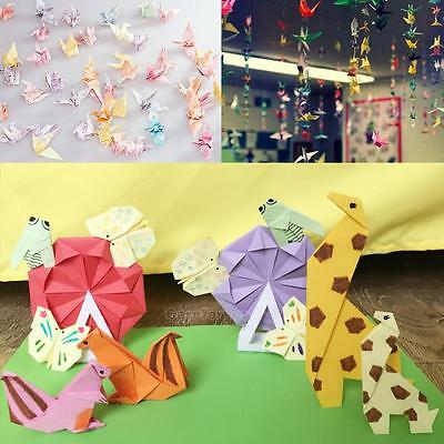72 Sheets 15X15cm Mix Color Square Origami Folding Crane Paper Decor
