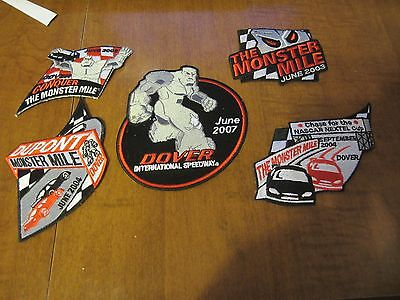 Nascar PATCHES from DOVER RACEWAY 5 different patches