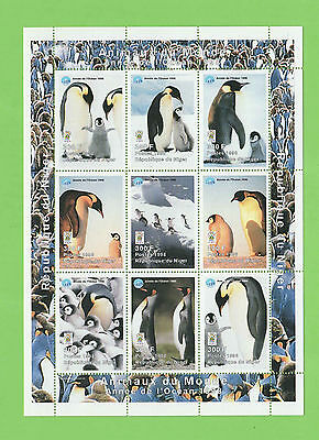 Republic of Niger 1998 penguins /Animals of the World miniature sheet MNH