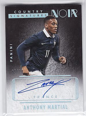 Anthony Martial France 2016 Panini Noir Country Auto Autograph Platinum 5/10