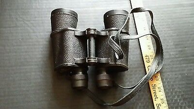 Vintage original ofuna binoculars #7093 7 x 50 old worn case occupied Japan
