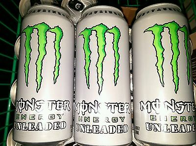 Monster Energy Drink Unleaded 16 Oz Cans. Total 3 Cans Lot Free Shipping